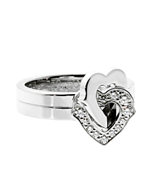 Cartier Heart Diamond White Gold Ring - Cartier Jewelry