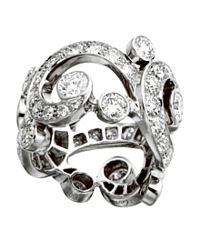 Cartier High Jewelry Platinum Diamond Cocktail Ring - Cartier Jewelry