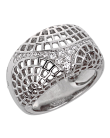 Cartier Nouvelle Vague Diamond White Gold Ring - Cartier Jewelry