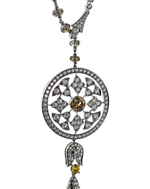 Cartier Diamond Surya Platinum Necklace - Cartier Jewelry