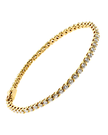 Cartier Diamond Tennis Gold Bracelet - Cartier Jewelry