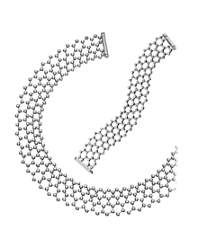 Cartier Diamond Tennis Necklace & Bracelet Suite - Cartier Jewelry