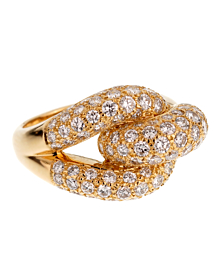 Cartier Diamond Knot Yellow Gold Cocktail Ring - Cartier Jewelry