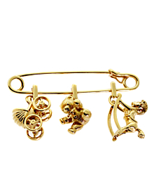 Cartier Gold Safety Pin Gold Brooch