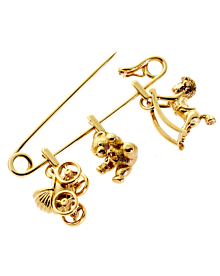 Cartier Gold Safety Pin Gold Brooch - Cartier Jewelry