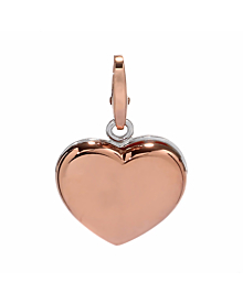 Cartier Heart Two Tone Gold Charm Pendant - Cartier Jewelry