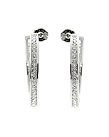 Cartier Hoop Diamond White Gold Earrings - Cartier Jewelry