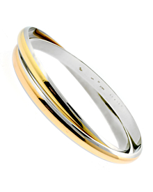 Cartier Interlocking Gold Stainless Bangle - Cartier Jewelry