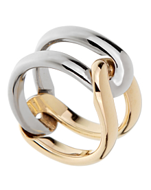 Cartier Vintage Interlocking Gold Band Ring - Cartier Jewelry