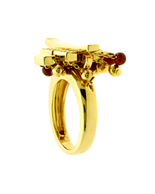 Cartier Le Baiser Du Dragon Diamond Gold Ring - Cartier Jewelry