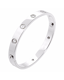 Cartier Love White Gold Diamond Bangle Bracelet - Cartier Jewelry