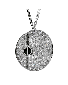 Cartier Love Pave Diamond White Gold Necklace - Cartier Jewelry