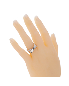 Cartier Nouvelle Vague Diamond White Gold Crossover Ring - Cartier Jewelry