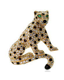 Cartier Panthere Diamond Yellow Gold Brooch - Cartier Jewelry