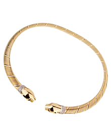 Cartier Panthere 18k Tri Color Gold Diamond Choker Necklace - Cartier Jewelry