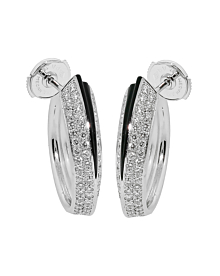 Cartier Panthere Diamond Onyx Earrings - Cartier Jewelry