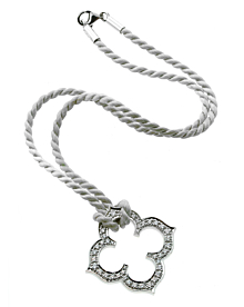 Cartier Quatrefoil Diamond White Gold Necklace - Cartier Jewelry