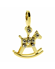 Cartier Rocking Horse Charm Gold Pendant - Cartier Jewelry