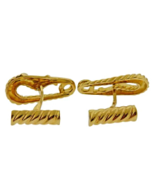 Cartier Safety Pin Yellow Gold Cufflinks - Cartier Jewelry