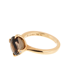 Cartier Smoky Quartz Diamond Cocktail Ring - Cartier Jewelry