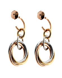 Cartier Trinity Crash Diamond Gold Earrings - Cartier Jewelry