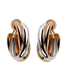 Cartier Trinity Large 18k Gold Hoop Earrings - Cartier Jewelry