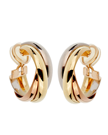 Cartier Trinity Vintage Gold Clip On Earrings
