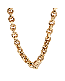 Cartier Vintage Cable Link Yellow Gold Necklace - Cartier Jewelry