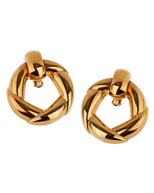Cartier Vintage 18k Yellow Gold Hoop Earrings - Cartier Jewelry