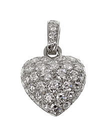 Cartier White Gold Diamond Heart Pendant Necklace - Cartier Jewelry