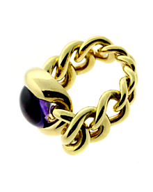 Chanel Amethyst Gold Ring - Chanel Jewelry