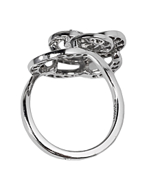 Chanel Camelia White Gold Diamond Cocktail Ring - Chanel Jewelry