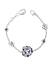 Chanel Camellia Sapphire Diamond White Gold Bracelet - Chanel Jewelry