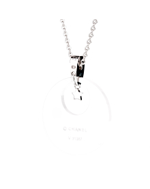 Chanel Comete Ceramic Diamond White Gold Necklace