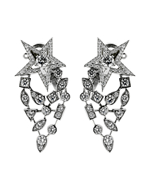 Chanel Comete Diamond White Gold Earrings - Chanel Jewelry