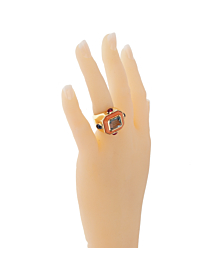 Chanel Coral Topaz Cocktail Ring - Chanel Jewelry