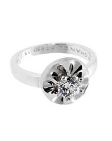 Chanel Flower Diamond Platinum Ring - Chanel Jewelry