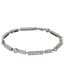Chanel Diamond Tennis White Gold Bracelet - Chanel Jewelry