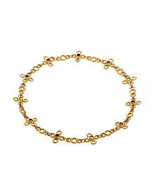 Chanel Gemstone Gold Choker Necklace - Chanel Jewelry