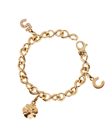Chanel Diamond Gold Charm Bracelet - Chanel Jewelry