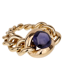 Chanel Iolite Chain Link Yellow Gold Ring - Chanel Jewelry