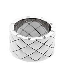 Chanel Matelasse White Gold Quilted Ring - Chanel Jewelry
