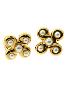 Chanel Pearl Yellow Gold Earrings - Chanel Jewelry