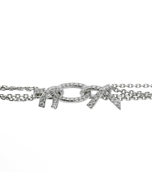 Chanel Diamond & Aquamarine White Gold Necklace - Chanel Jewelry