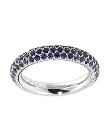 Chanel Sapphire Diamond Eternity White Gold Ring - Chanel Jewelry