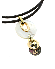 Chimento Mother of Pearl Multitone Gold Necklace
