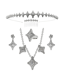 Chimento Diamond Suite Tiara Hairpin Earrings Ring Necklace