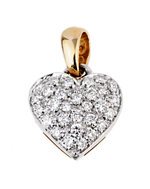 Chimento Gold Diamond Heart Pendant Necklace - Chimento Jewelry
