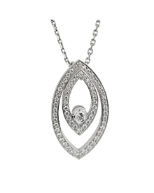 Chopard White Gold Diamond Eye Pendant Necklace
