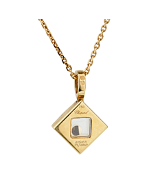 Chopard Happy Diamonds Square Yellow Gold Necklace - Chopard Jewelry